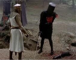 Courtesy Monty Python's Holy Grail.